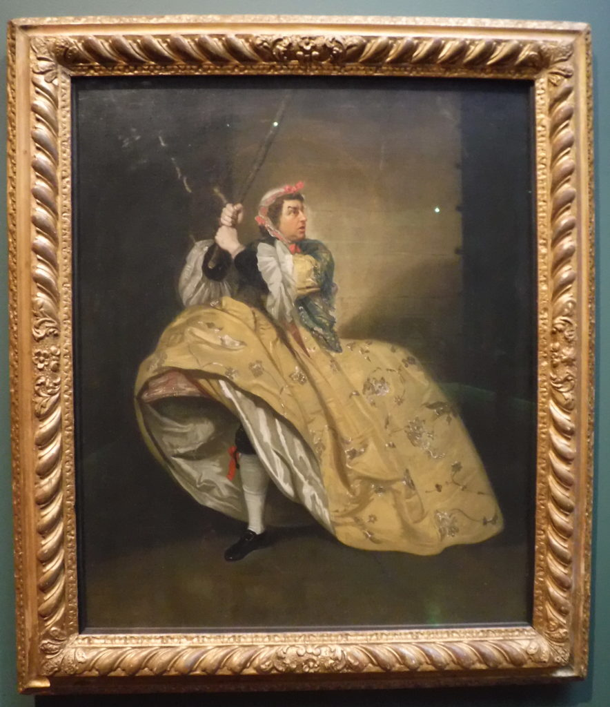 David Garrick in drag
