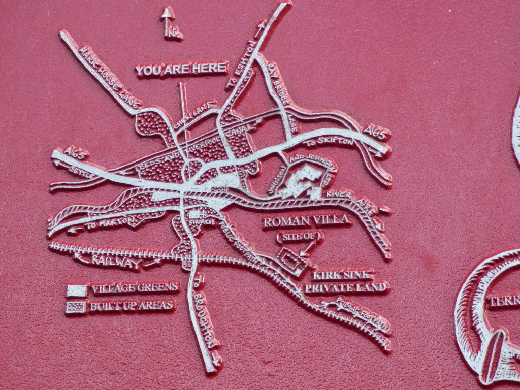 Map of Roman villa