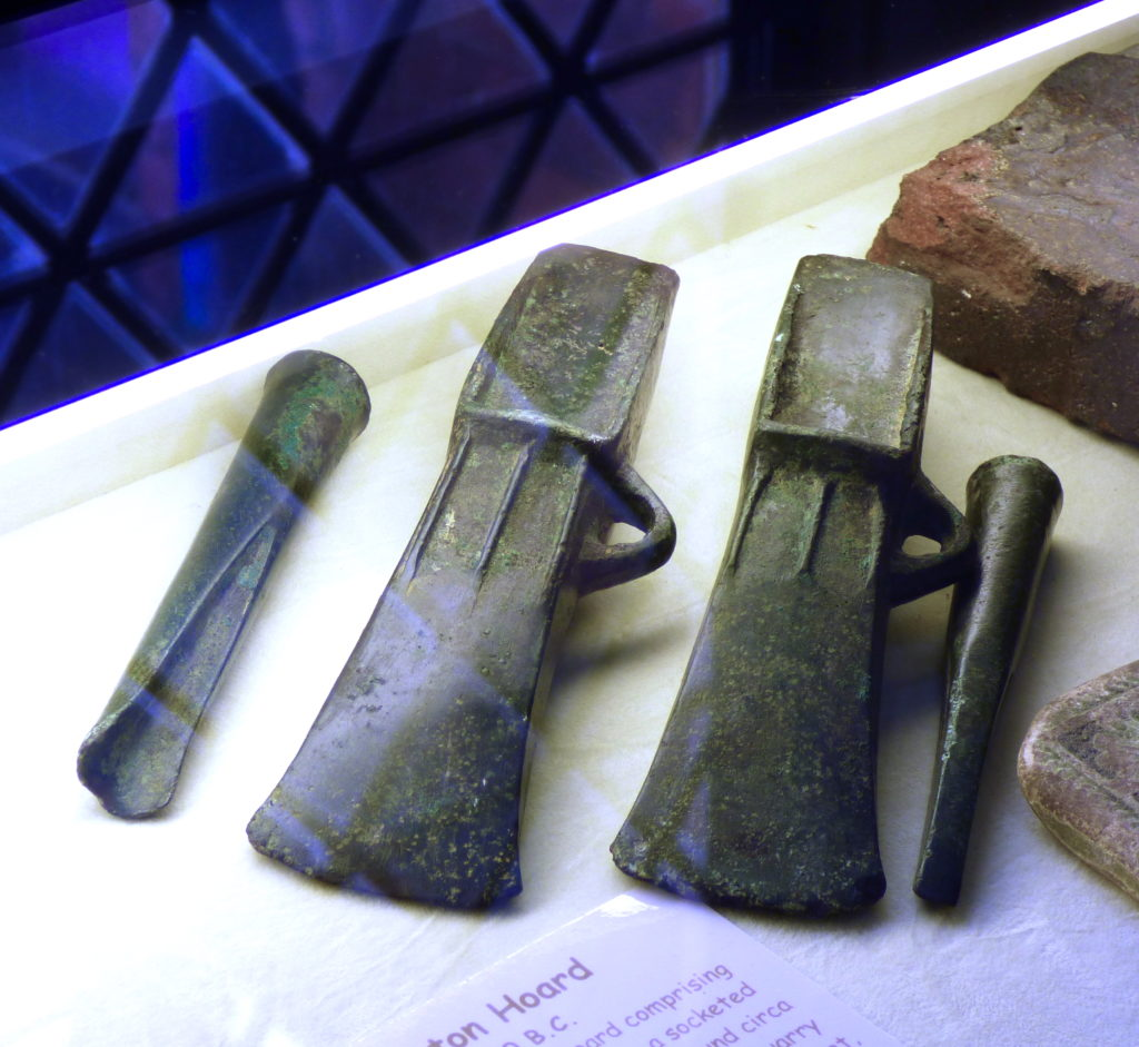 Bronze age axe heads